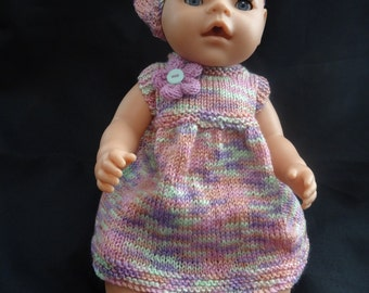Hand knitted dolls dress