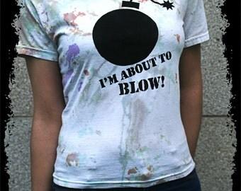 BOMB BLOW - Hippie tie dye woman T-shirt