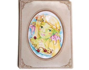 Reproduction framed in a bag frame vintage Princess of dragons - art print
