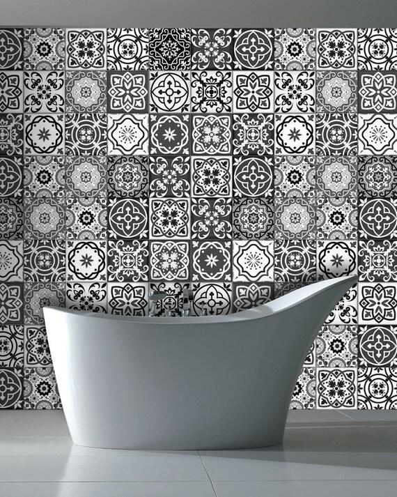 carreaux noir et blanc stickers carrelage autocollants cuisine. Black Bedroom Furniture Sets. Home Design Ideas