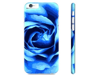 iPhone 6 Case - iPhone 5 Case - Rose iPhone Case - Blue Rose iPhone Case - Floral iPhone 6 Case - Samsung Galaxy Case - The Mad Case