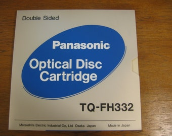 Vintage Unique Panasonic Optical Disc Cartrige and Floppy Disk, New in Original Package Optical Disc Cartrige Double Sided, Made in Japan