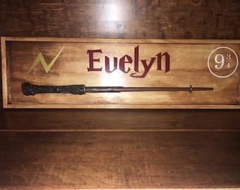 Personalized Wand Display // Harry Potter Everything // Wizards // Muggle Life // Always// Gryffindor / Slytherine / Hufflepuff / Ravenclaw