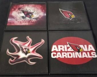Arizona Cardinals Ceramic Tile Drink Coaster Set / Set of 4 Arizona Cardinals Drink Coasters