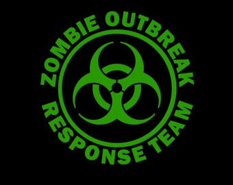 "Vinyl Car Decal - ""Zombie Outbreak Response Team"""