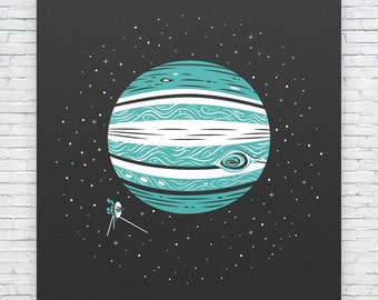 Jupiter & Voyager 1 Print