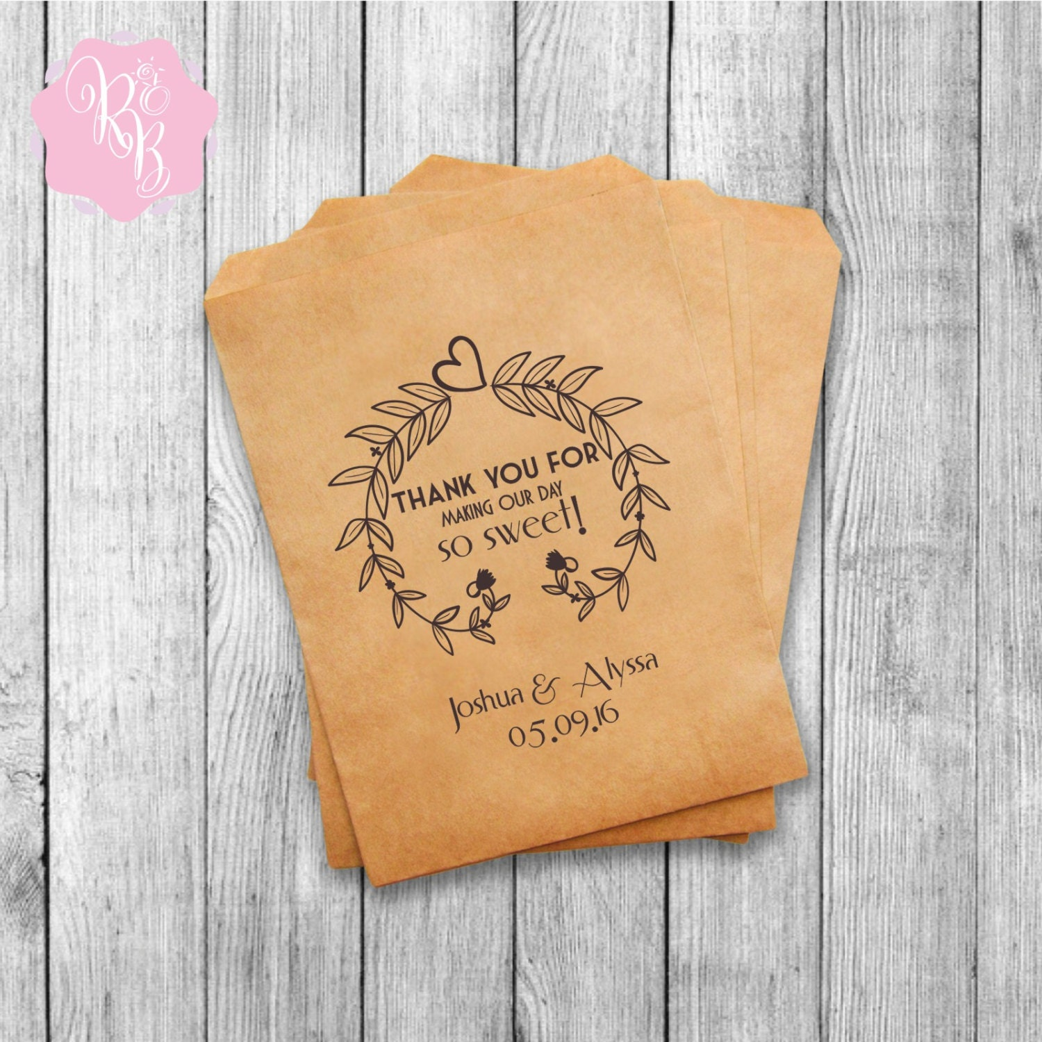 Wedding Favor Bags Personalized : Set of 20 Wedding Favor Bags Wedding Favors Personalized