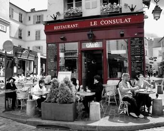 Le Consulat - Window Shopping - Restaurant - Store Front - Paris - France - Photo - Print