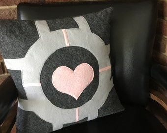 Portal Companion Cube Felt Pillow