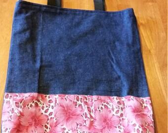 SALE - Denim Tote Bag