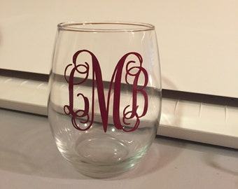 Personalized Stemless Wine glasses