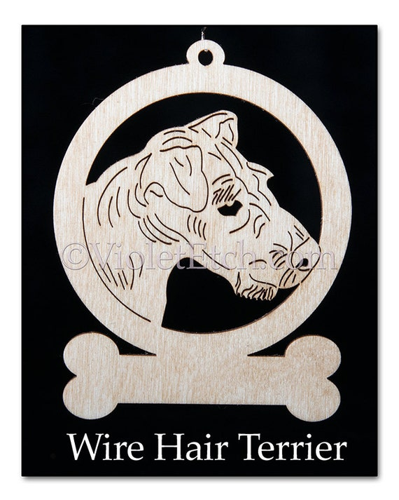 Wire Hair Terrier-Wire Hair Terrier Ornament-Wire Hair Terrier Gift-Free Personalization