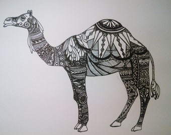 Camel Ink Drawing