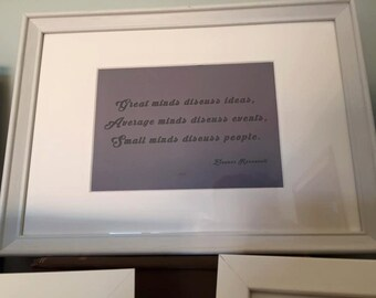 Framed Inspirational Quote/Saying