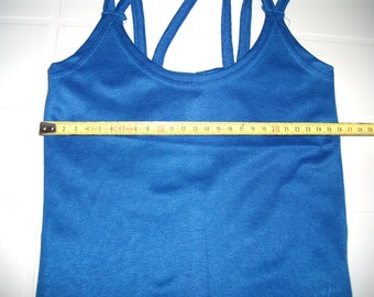 Blue Color Woman Top with double straps - Smal Size - S