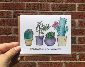 Congrats on your success card
