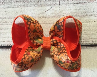 Fall Harvest Boutique Hair Bow Fall Hair Bow Fall Boutique Bow Girls Boutique Hair Bow Autumn Boutique Hair Bow Thanksgiving Hair Bow