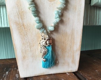 Knotwork Amazonite Necklace