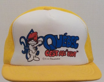 Quebec Canada Cest Au Bout by Kirk Alexander Baseball truckers Cap Hat SnapBack