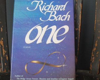 """Vintage Hardcover 1988 """"One"""" by Richard Bach/Vintage Book/Inspirational Book/Classic Literature/Classic Fiction"""