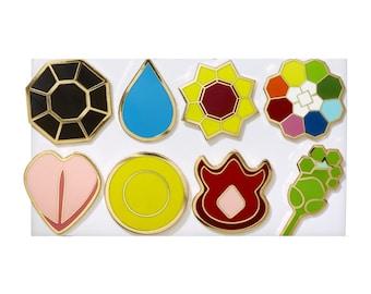 Pokemon Kanto Indigo League Metal Pin Badge for Cosplay