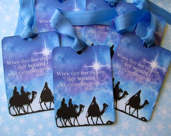Christmas Tags-When They Saw the Star-Set of 6