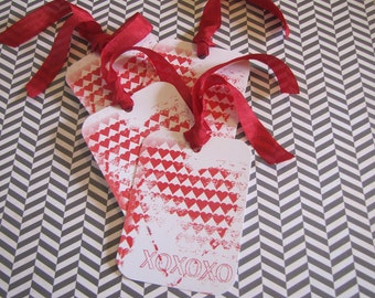 Valentine Tags-X's and O's-Set of 6
