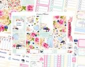 Tea Party Weekly Set or Singles (matte planner sticker, fits perfect in Erin Condren Life Planner Vertical)