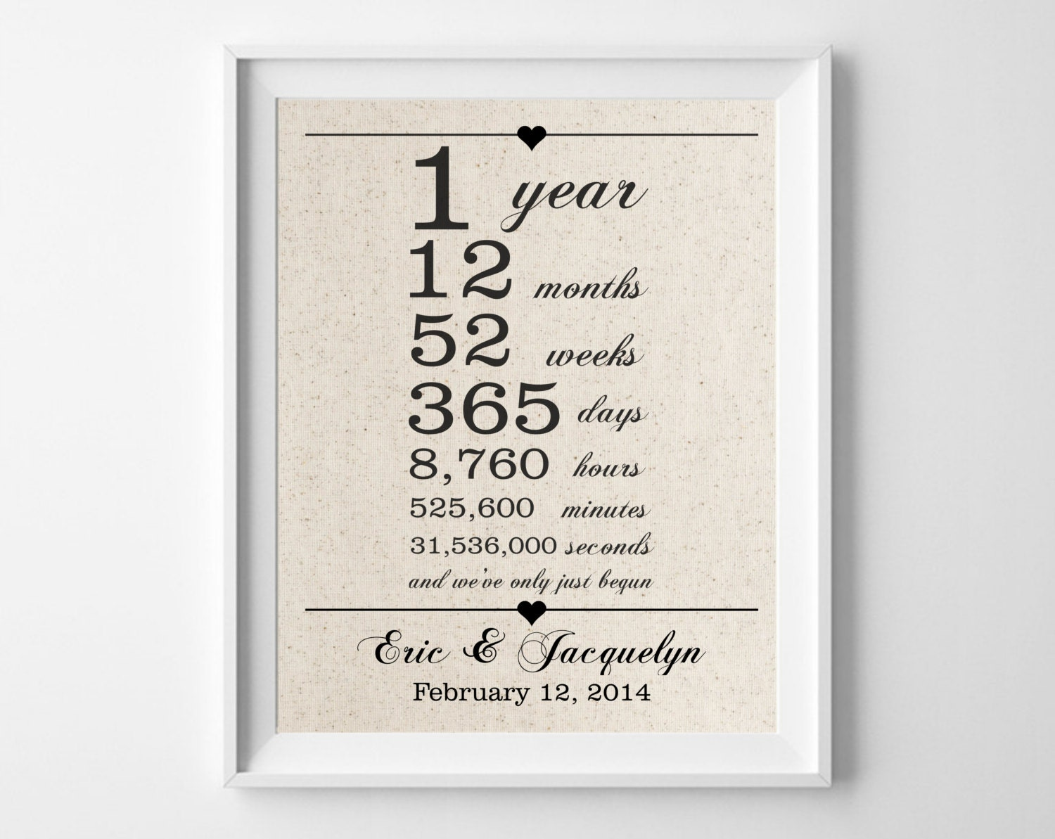 1 Year Wedding Anniversary Picture Ideas : 1st Anniversary Gift for Husband Wife One 1 Year Wedding