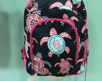 Sea Turtle book bags with monogram