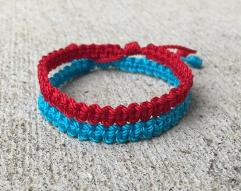 Simple Macrame Bracelet (Style 1) - made to order- 42 colors available