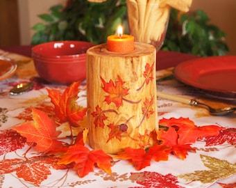 Thanksgiving Centerpiece/ Autumn Candle/ Autumn Centerpiece/ Fall Centerpiece/ Thanksgiving Candle