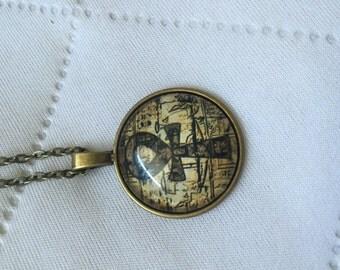 Bronze Ankh Chain Necklace