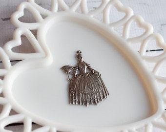 Marie Antoinette Stamping Marie Antoinette Silver OX Stamping Marie Antoinette Finding Let Them Eat Cake Marie Silver Stamping