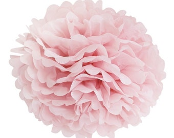 Light Pink Tissue Paper Pom Poms