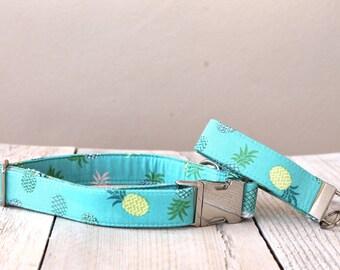 Summer Pineapples Dog Collar - Summer 2016
