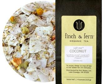 Organic COCONUT Tea | Herbal, Caffeine-free | Loose Leaf | Small (1.5 oz)