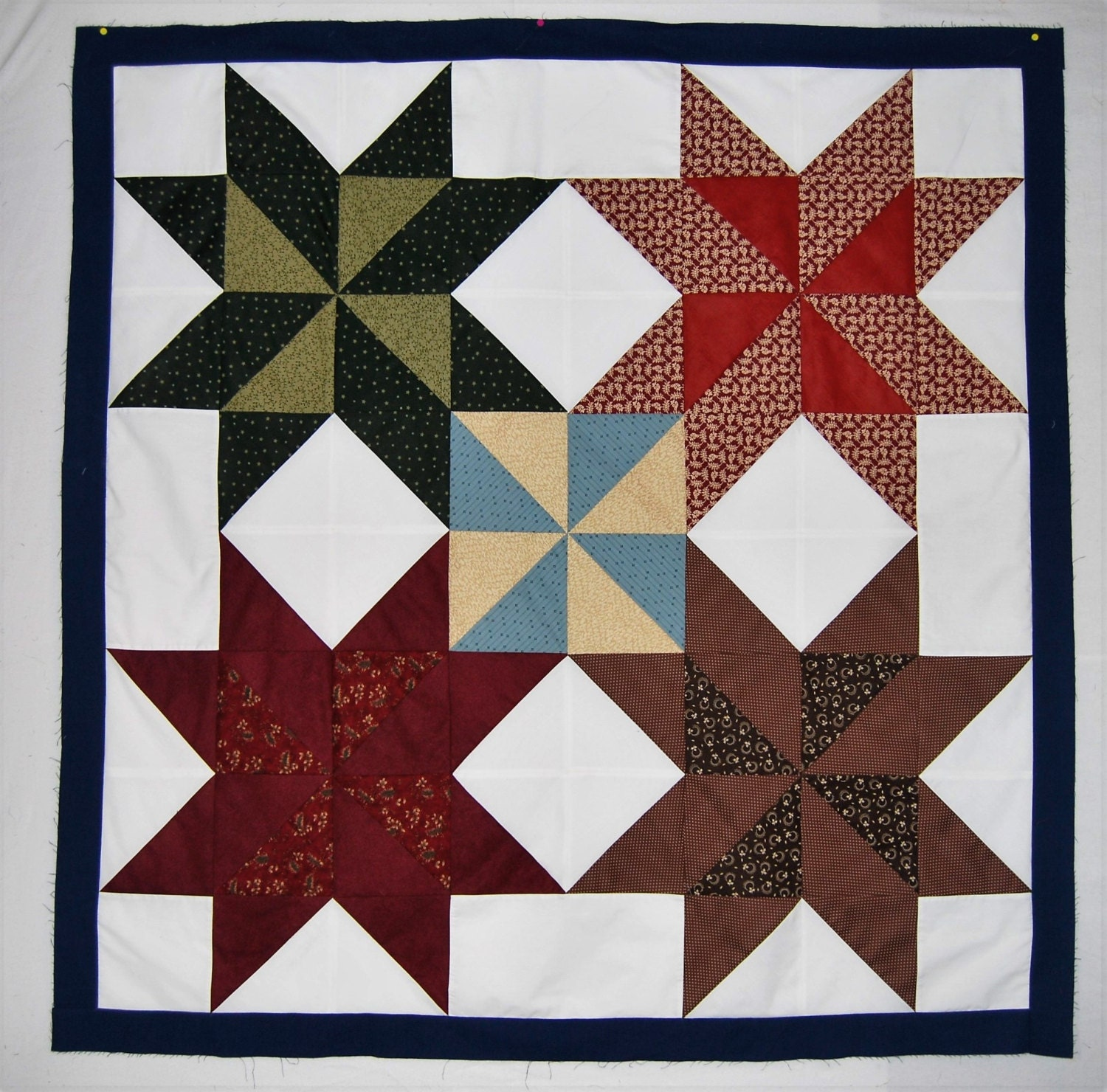 Unfinished Quilt Top Big Star Quilt Stars Wall Quilt Stars