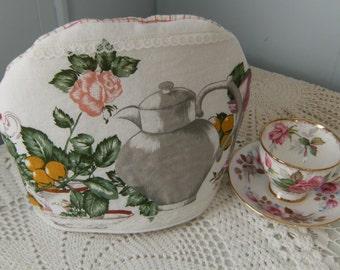 Tea Cosy, Tea Pot Cosy, Upcycled Tea Cosy, Vintage Tea Cosy, Tea Cozy, Tea Pot Cozy, Tea Pot Print Cozy