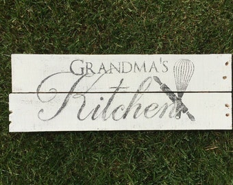 Grandmas Kitchen Sign rustic home decor rustic sign kitchen sign gift for grandma gift for mother gift for grandmother