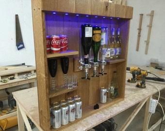 Home bar custom hand built rustic whiskey pub man cave barn for Summer garden and bar