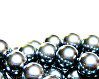 Jewelry Supplies  50 Count Silver Gray Czech Glass Pearl Rondelle Bead 6mm wholesale bead bulk