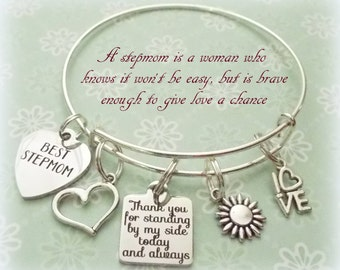 Wedding Gift For Dad And Stepmom : ... Charm Bracelet, Wedding Gift for Stepmother, Bridal for Stepmom