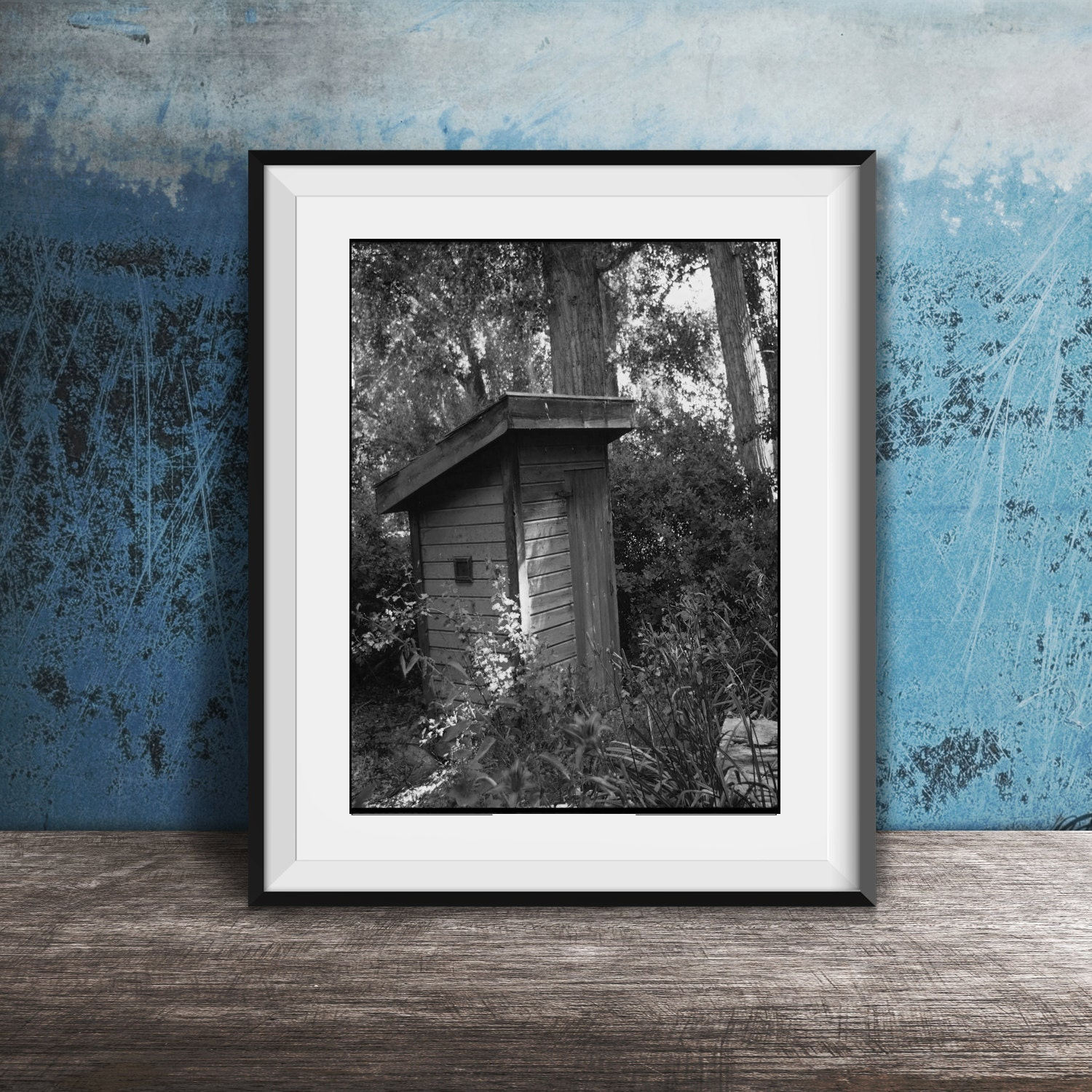 Superb Framed Bathroom Wall Art   Vintage Outhouse Photo   Modern Farmhouse Decor    Funny Bathroom Art   Powder Room Framed Art