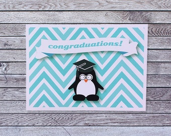 Penguin Graduation Card