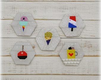 Sweet Treats - a paper piecing hexagon pattern