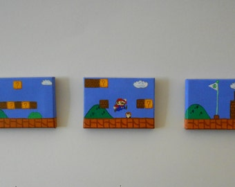 Super Mario Bros Level Mini Canvas Set