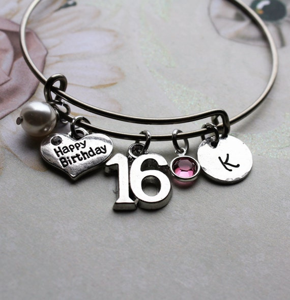 Sweet 16 Charm Bracelet: Sweet Sixteen Bracelet Sweet Sixteen Bangle By Loveherbyalissa