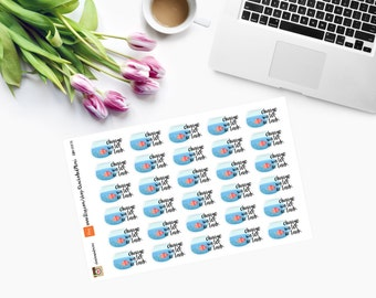 CHANGE WATER in fish tank planner stickers CAM00076