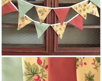 Christmas Fabric Bunting Banner